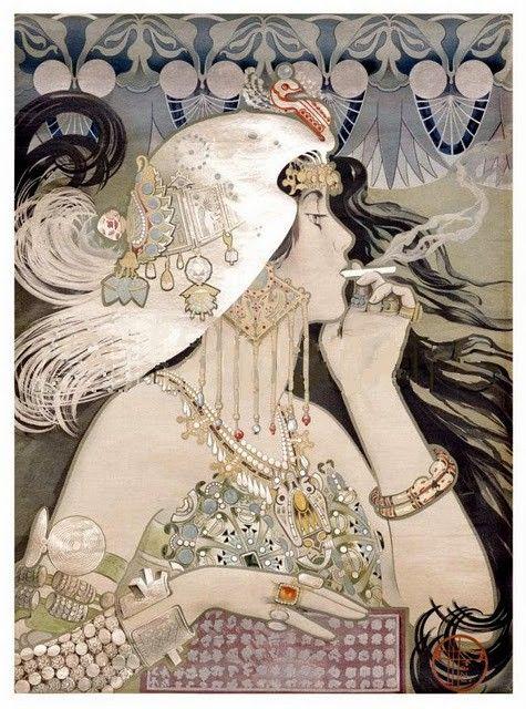 Manuel Orazi 1896, Job Sigarette poster