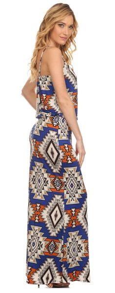 Royal Aztec Maxi Dress