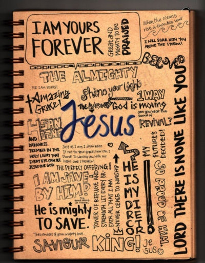 Cool idea for a journal page in a binder or scrapbook #journal #scrapbook #Jesus