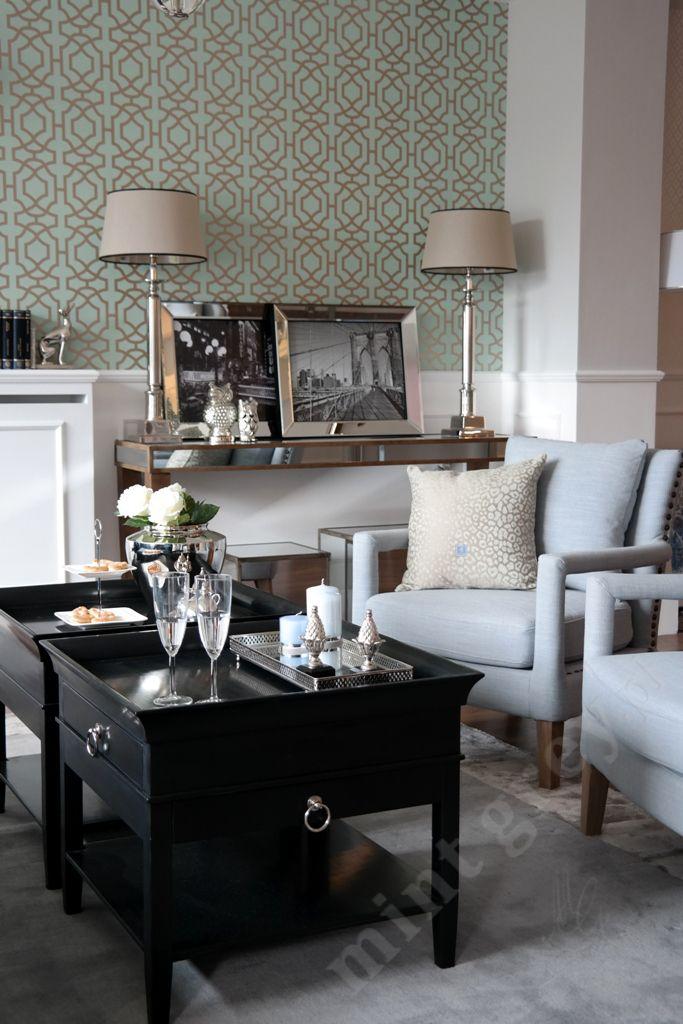 MINT GREY New York Style Interiors | produkty - meble; Czarne Stoliki REGENCY; Black Cofee Table