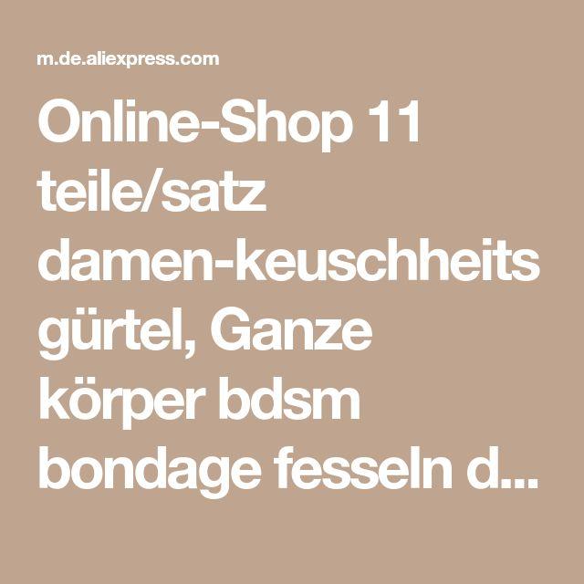 Online-Shop 11 teile/satz damen-keuschheitsgürtel, Ganze körper bdsm bondage fesseln damen-keuschheitsgürtel handschellen erwachsenen sex spiel Edelstahl | Aliexpress Mobil