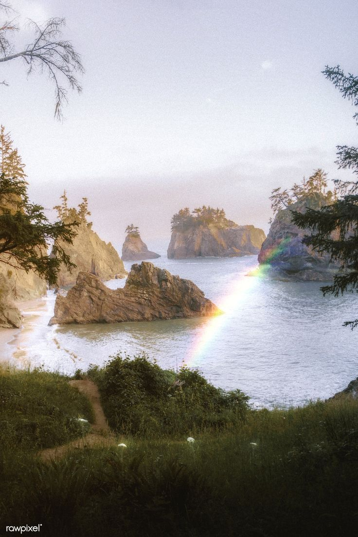 Download premium image of Rainbow at the west coast in USA 1227151