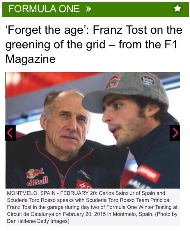 Tost with Carlos Sainz