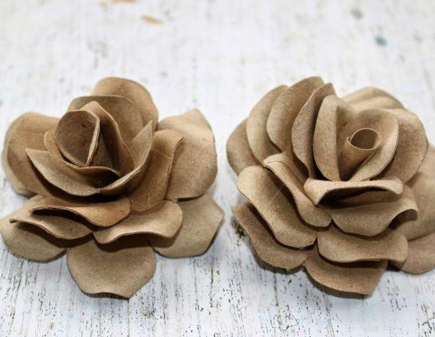Rosa de rolo de papel higiênico – Passo a Passo