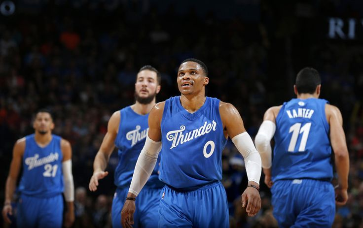 Oklahoma City's Russell Westbrook (0) walks off the court during the NBA game between the Oklahoma City Thunder and the Minnesota Timberwolves at the Chesapeake Energy Arena, Sunday, Dec. 25, 2016. Photo by Sarah Phipps, The Oklahoman