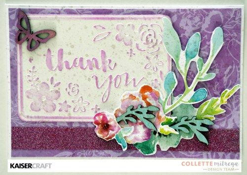 Group Post ~ Wildflower Cards with Dry Embossing - Kaisercraft Official Blog