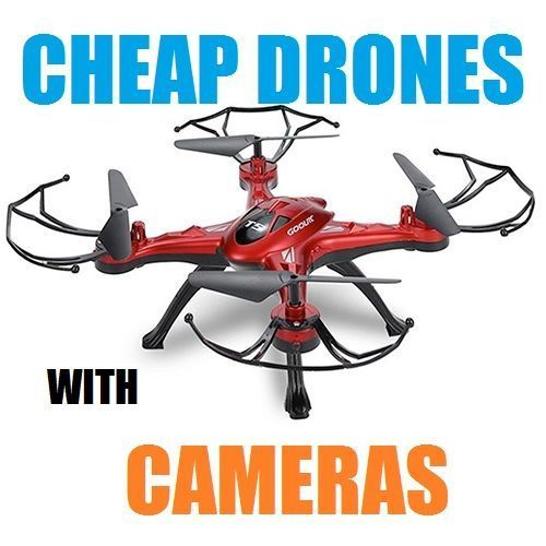Cheap drones with cameras are very popular because they're relatively inexpensive, easy to use, durable and a lot of fun to fly.