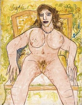 Untitled (Seated Nude) By F.N. Souza ,1962