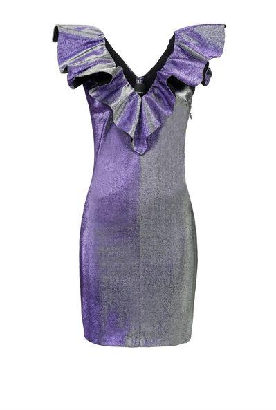 Pinko Vestido corto de purpurina superelástico