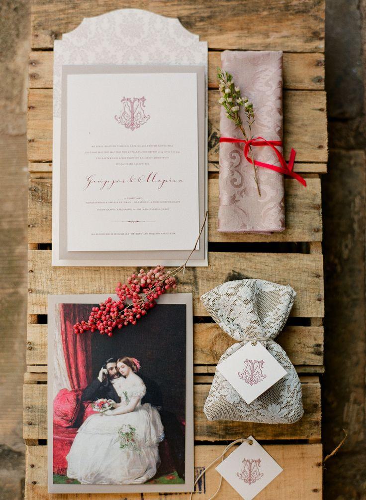 Romantic chic wedding stationery and favors. Design : Atelier Invitations   www.atelier-invitations.gr   Προσκλητήρια