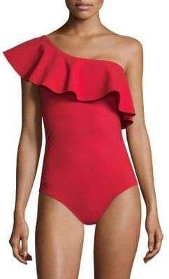 3ce16527ef Karla Colletto Swim Zaha One-Shoulder One-Piece Swimsuit | Fashion ...