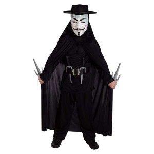 Εκδικητής V για Venteta στολή για αγόρια με μάσκα Anonymous