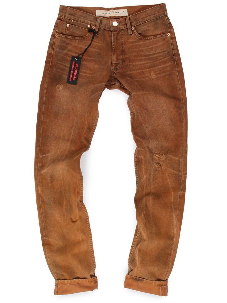Williamsburg Garment Company - Canvas work pant inspired Vintage Wash Twill Work Jeans Slim - GRAND ST, $189.00 (http://madeinusajeans.us/shop/vintage-wash-twill-work-jeans-slim-grand-st/)