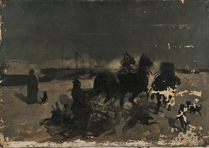 Josef Chelmonski (Polish, 1850-1914) The Sleighing Accident. | Auction 2907T | Lot 1051 | Sold for $135,000