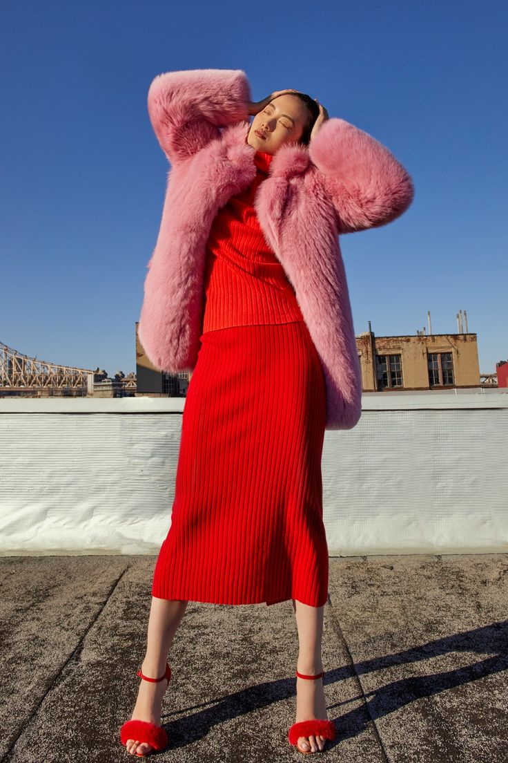 Cotton Candy Fox Coat by Blood & Honey