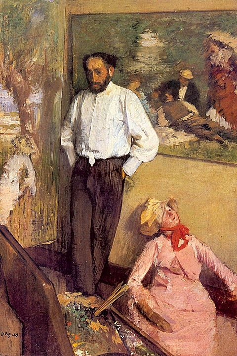 Degas - Artist in his Studio