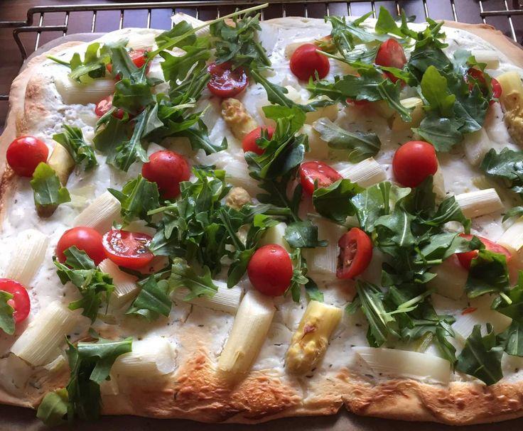 Rezept Spargelflammkuchen von Nord-Queen - Rezept der Kategorie Hauptgerichte mit Gemüse