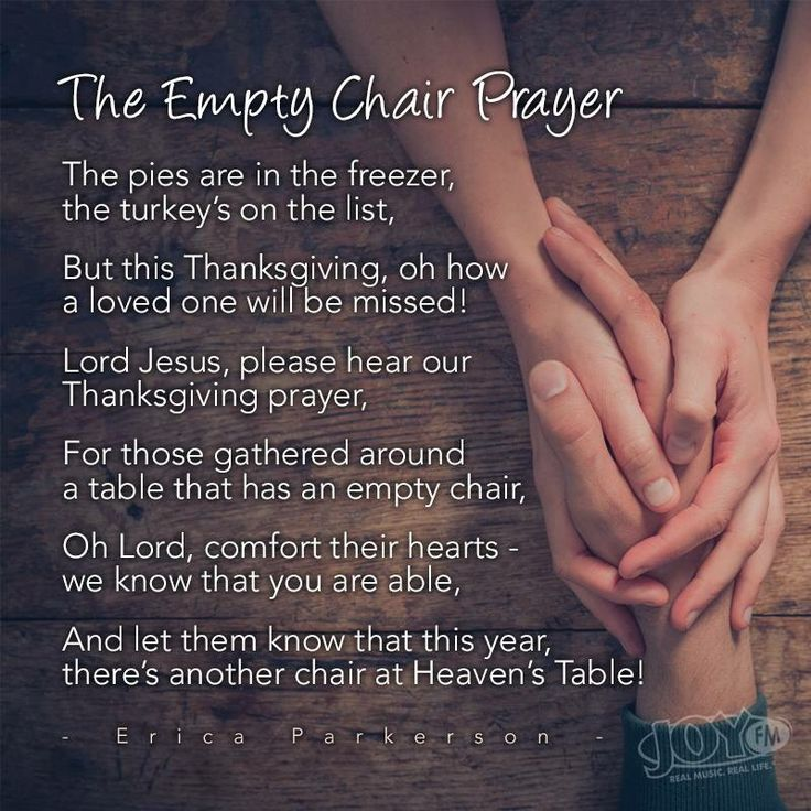 The empty chair prayer