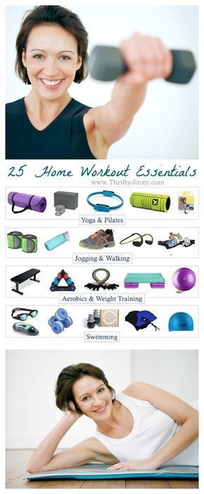 Get fit at home without breaking the bank with these Essential Home Workout Equipment items for yoga, cardio, running, weight training, pilates or swimming. #Fitness #Exercise #Workout #HomeGym #Yoga #Pilates #Running #StrengthTraining #cardiorunning #cardioathome