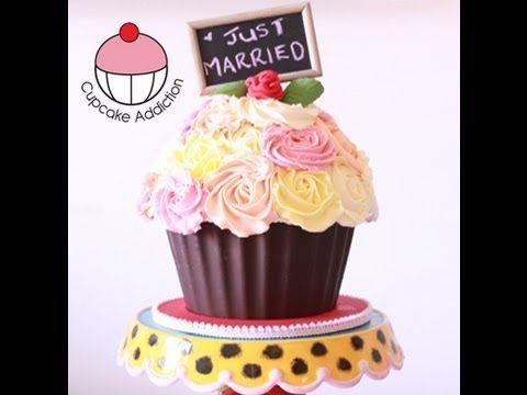 ▶ Dekoriere einen RIESENKUCHEN Shabby Chic Rosenstrauß Design – A Cupcake Addicti …   – Party Time