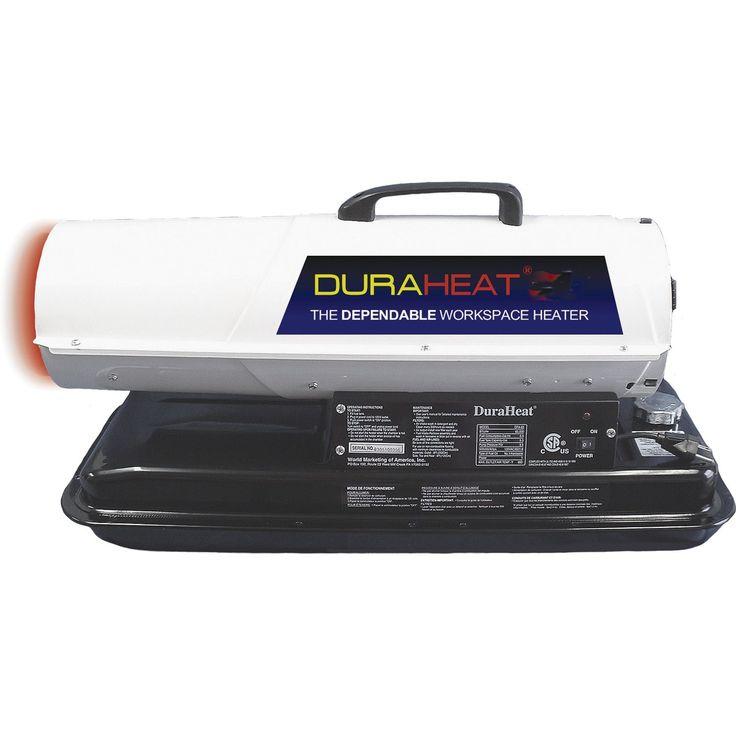 "Jensen Dura Heat DFA-80T 17"" X 32"" X 13.7"" 70,000 BUT Kerosene Forced Air Heater"
