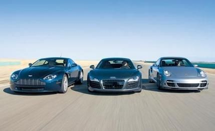 2007 Aston Martin V-8 Vantage vs. 2008 Audi R8, 2007 Porsche 911 Turbo 2007 Aston Martin V-8 Vantage vs. 2008 Audi R8, 2007 Porsche 911 Turbo  Everyday Supercars: Audi knocks on the door of a very exclusive club.