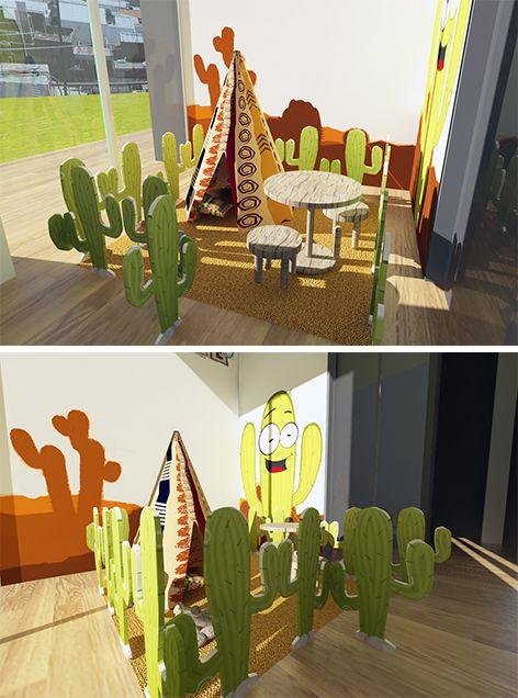 Zonas Infantiles, espacios para imaginar #diversión #niños #ModosExhibiciónInmobiliaria