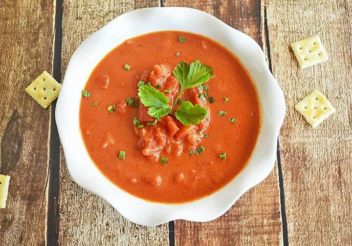 Chunky tomato soup - dairy free | soups | Pinterest