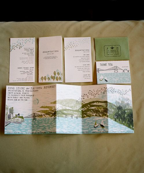 A folding invitation would be great for a weekend wedding.