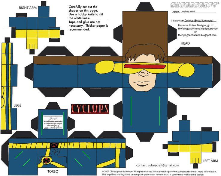 Marvel3: Cyclops Cubee por TheFlyingDachshund