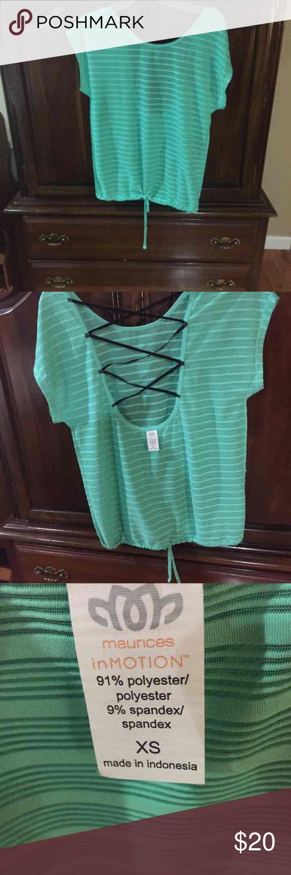 Maurice mint green top XS Beautiful NWOT mint green top. Size XS super cute on. Great for work outs or running errands. Maurices Tops Tees - Short Sleeve