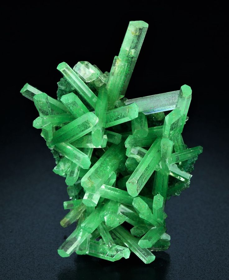 Gypsum - Lubin Mine, Lubin District, Lower Silesia, Poland Green color is due to Herbertsmithite and Atacamite inclusions