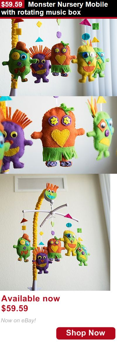 Baby Mobiles: Monster Nursery Mobile With Rotating Music Box BUY IT NOW ONLY: $59.59