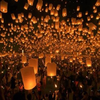 Lanterns make the night burn bright