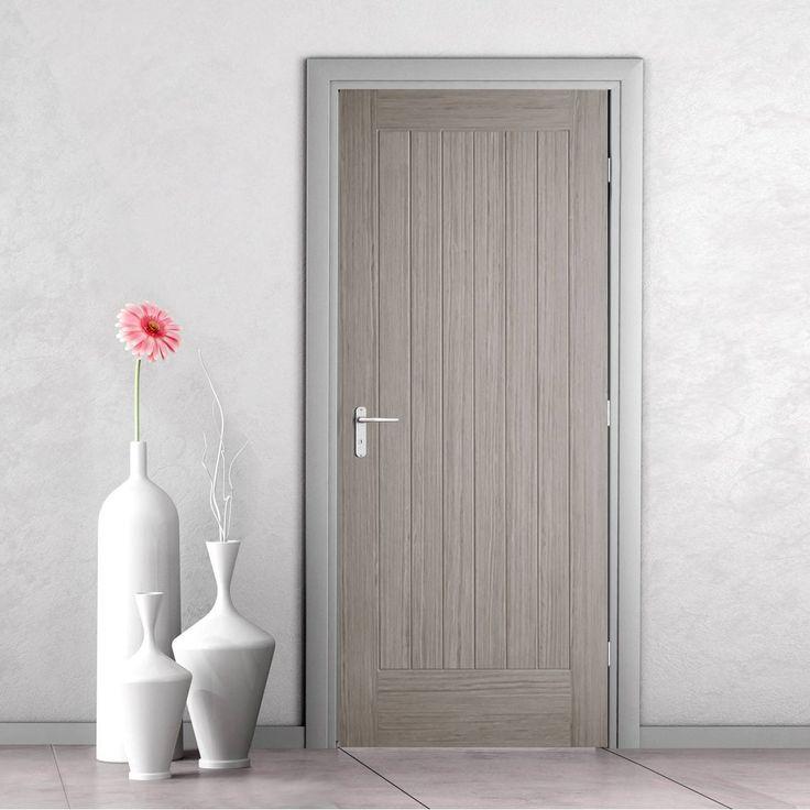 Somerset Light Grey Internal Door - Prefinished. #internaldoor #moderndoor #contemporarydoor