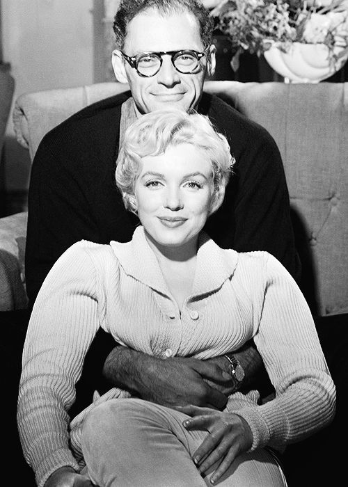 Marilyn Monroe and Arthur Miller photographed by Jack Cardiff, 1956