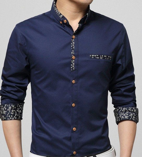 Amtify Flash Sale Even! Buy this Men's button front shirt at Amtify and get 65% OFF! Color :White, Navy, Gray, Green Size : XS, S, M , L Material : Cotton Blend XS Chest : 96 cm / 37.44 inch - Shoulde
