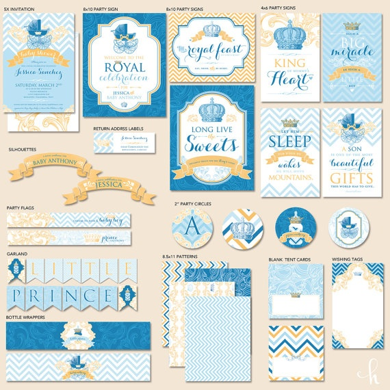 Custom Royal Baby Shower - Little Prince  The Mostess by HWTM!
