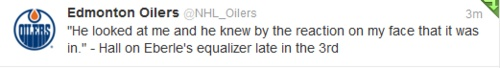 Taylor Hall, speaking out on losing his virginity to Jordan Eberle. Hahaha