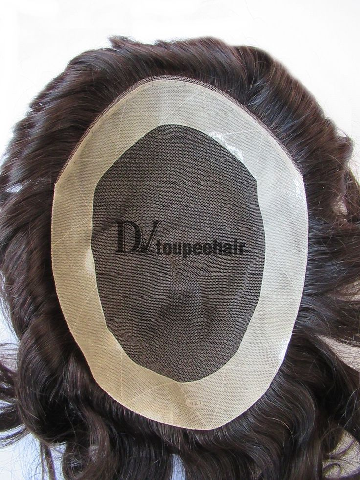 DV-028 French Lace With PU Coated All Around Perimter Plus Folded Lace Front Edge Men's Toupee