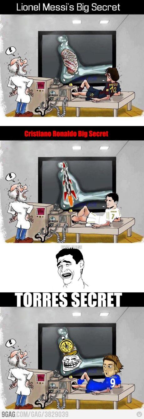 El secreto de Messi, C. Ronaldo y... Torres #FB