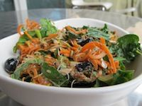 Refreshing Carrot Blueberry Sprout Salad - Make ahead for lunch or side dish. Sprouts are one of the most nutrient dense foods on the planet!