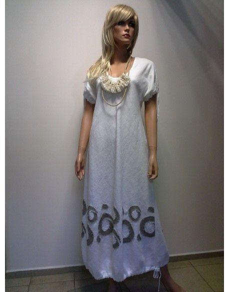 SUKIENKA - LEN  350,00 zł brutto Stan:  Nowy produkt  swoboda i niewymuszony styl  rozmiar M  kolor biały