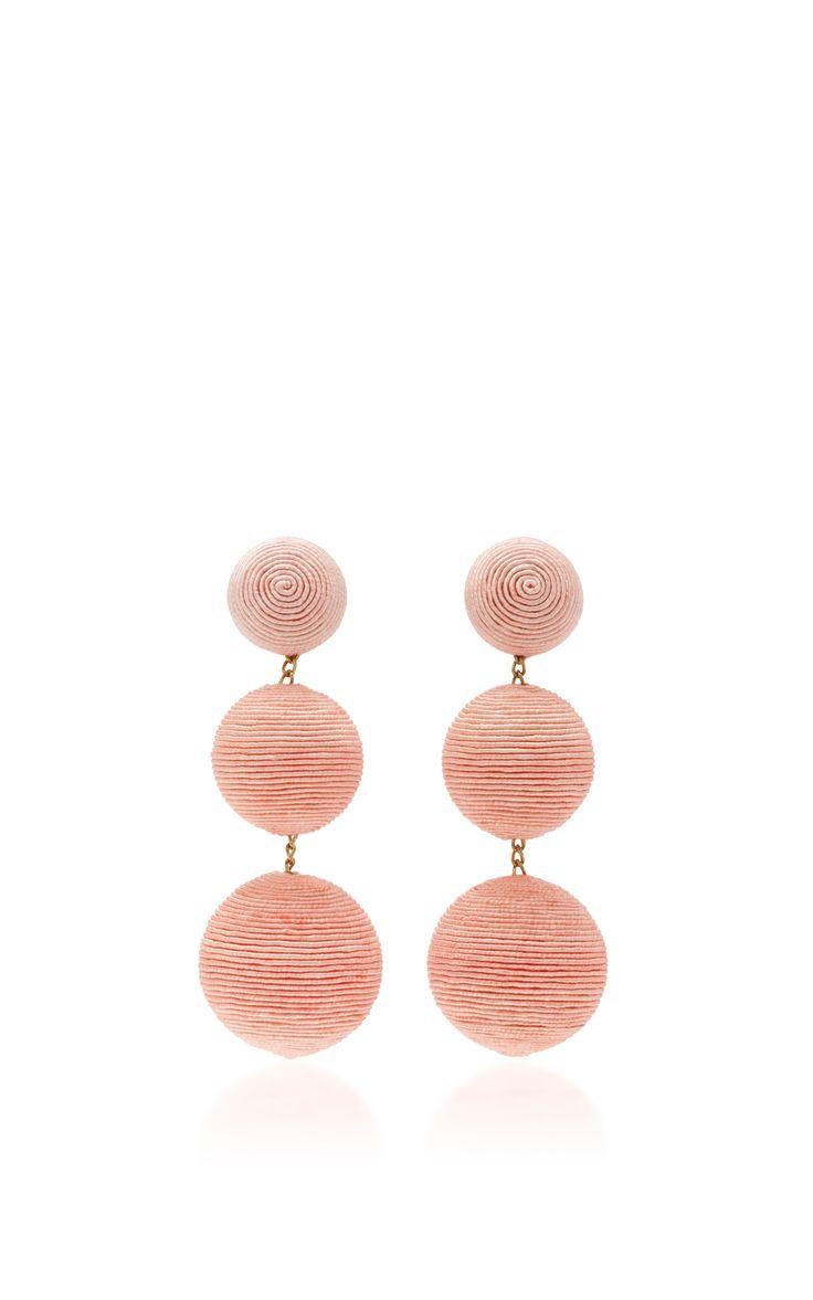 Classic Short Earrings by REBECCA DE RAVENEL Now Available on Moda Operandi