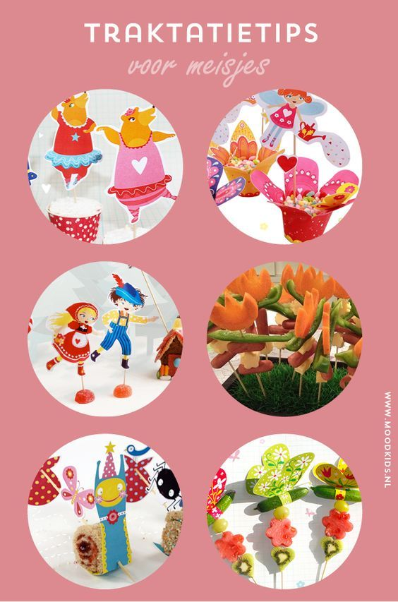Kindertraktaties voor meisjes - gratis printvellen en leuke traktaties, treats, girls, free printable, download, birthday treat, partytreat, kids