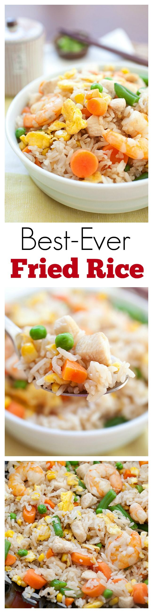 Fried Rice - best-ever & easiest fried rice recipe with eggs, chicken…
