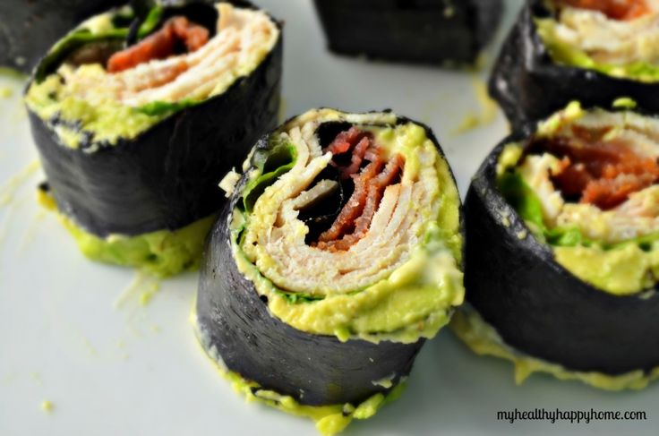 Whole30 approved BLT Nori Wrap