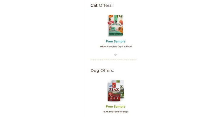"FREE Rachel Ray Peak Dog Food Sample or Indoor Complete Dry Cat Food Sample! Rachel Ray Nutrish is currently offering dog & cat food samples as well as many coupons for dogs & cats! Here's how to get your freebie: click on the link above Fill out form and submit Allow 8-10 weeks for … Continue reading ""FREE Dog or Cat Food Samples from Rachael Ray!"""