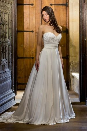 Sweetheart A-Line Wedding Dress  with Natural Waist in Satin. Bridal Gown Style Number:32998890