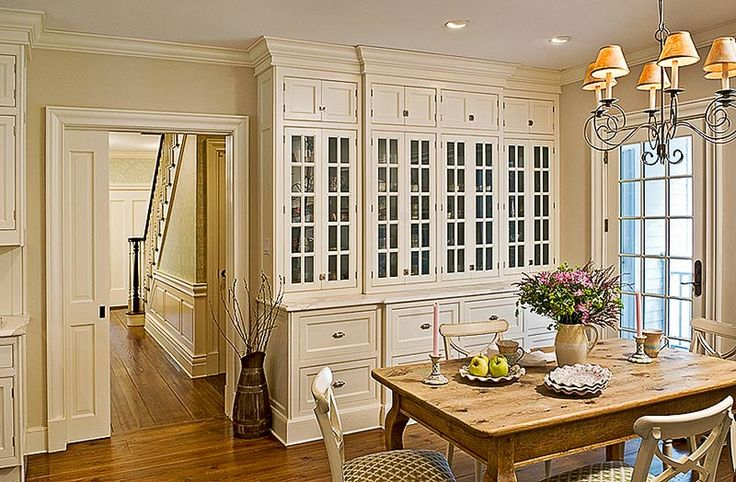 Dining Room Cabinets - Love this entire room!